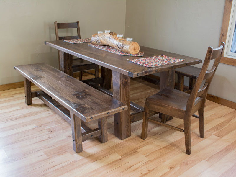 rustic tables chairs